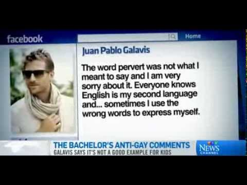 Juan Pablo The Bachelor Anti Gay Perverts Comments Sparks Glaad Outrage