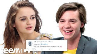 Video The Kissing Booth Cast Competes in a Compliment Battle | Teen Vogue download MP3, 3GP, MP4, WEBM, AVI, FLV Oktober 2018