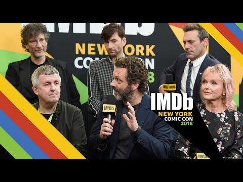 David Tennant, Michael Sheen and Jon Hamm Talk 'Good Omens' | NYCC 2018