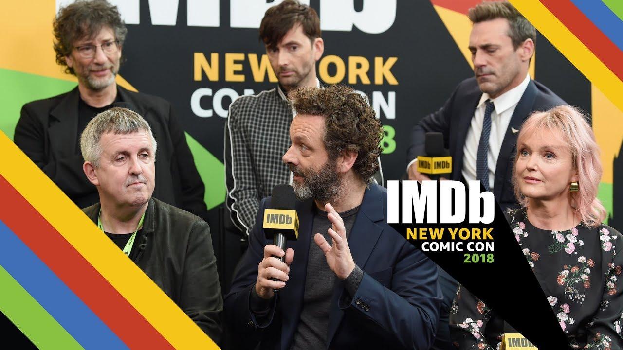 David Tennant Michael Sheen And Jon Hamm Talk Good Omens Nycc
