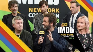 "David Tennant, Michael Sheen and Jon Hamm Talk ""Good Omens"" 