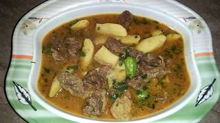 Beef Arvi  shorba/Arvi gosht curry recipe by Maria