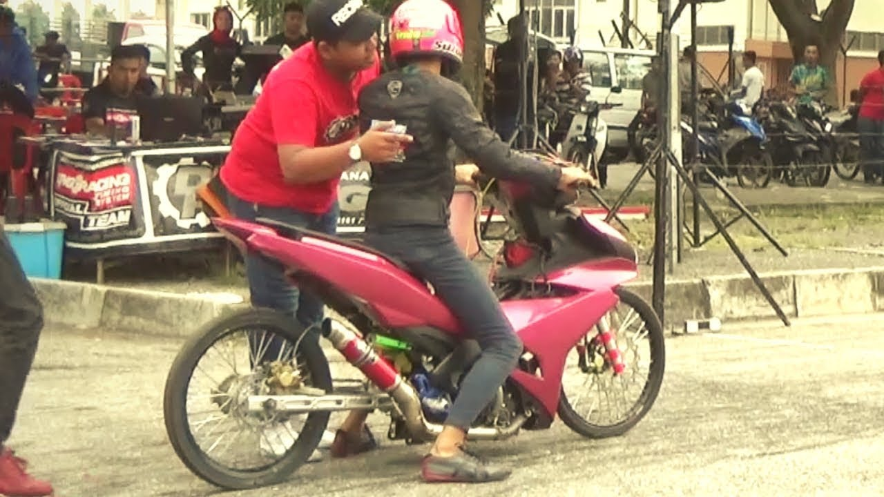 PART 1/3 YAMAHA Y15zr LC 135 Drag Bike Ogos Drag Racing Kubang Menerong 2019