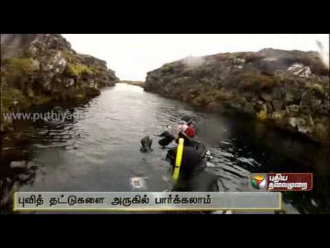 Movement of tectonic plates of Earth can be experienced in Silfra Rift in Iceland
