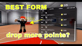 RB WORLD 2 BEST SHOOTING FORMS AND LAYUPS (roblox)