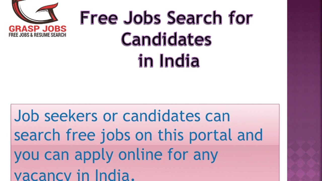 search free resumes of candidates online in india graspjobs - Search Free Resumes