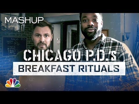 Cop Stuff: LaRoyce Hawkins And Patrick Flueger Find Out What Cops Eat For Breakfast - Chicago PD
