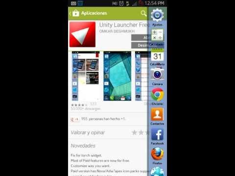 Unity Launcher: Un verdadero Launcher Multitarea para tu Android