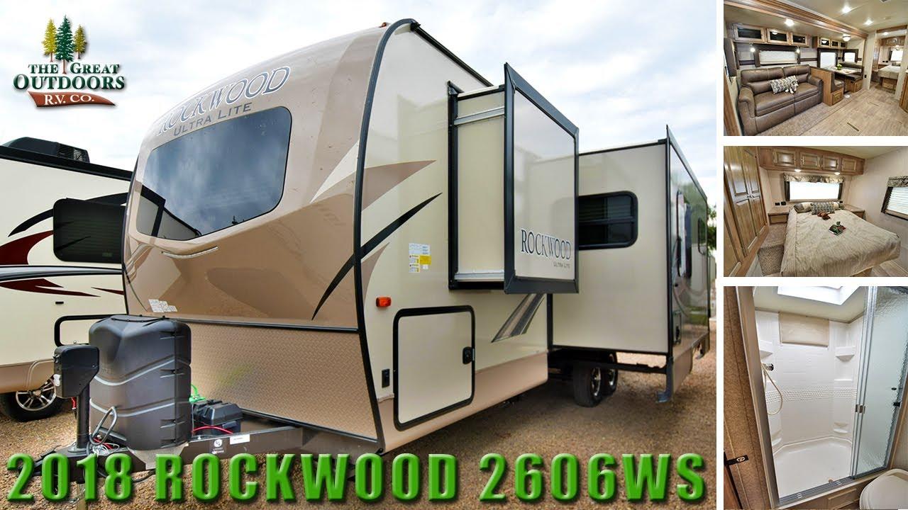 Rockwood Signature Ultra Lite >> New Rear Bath 2018 ROCKWOOD Ultra Lite 2606WS Travel Trailer RV - YouTube