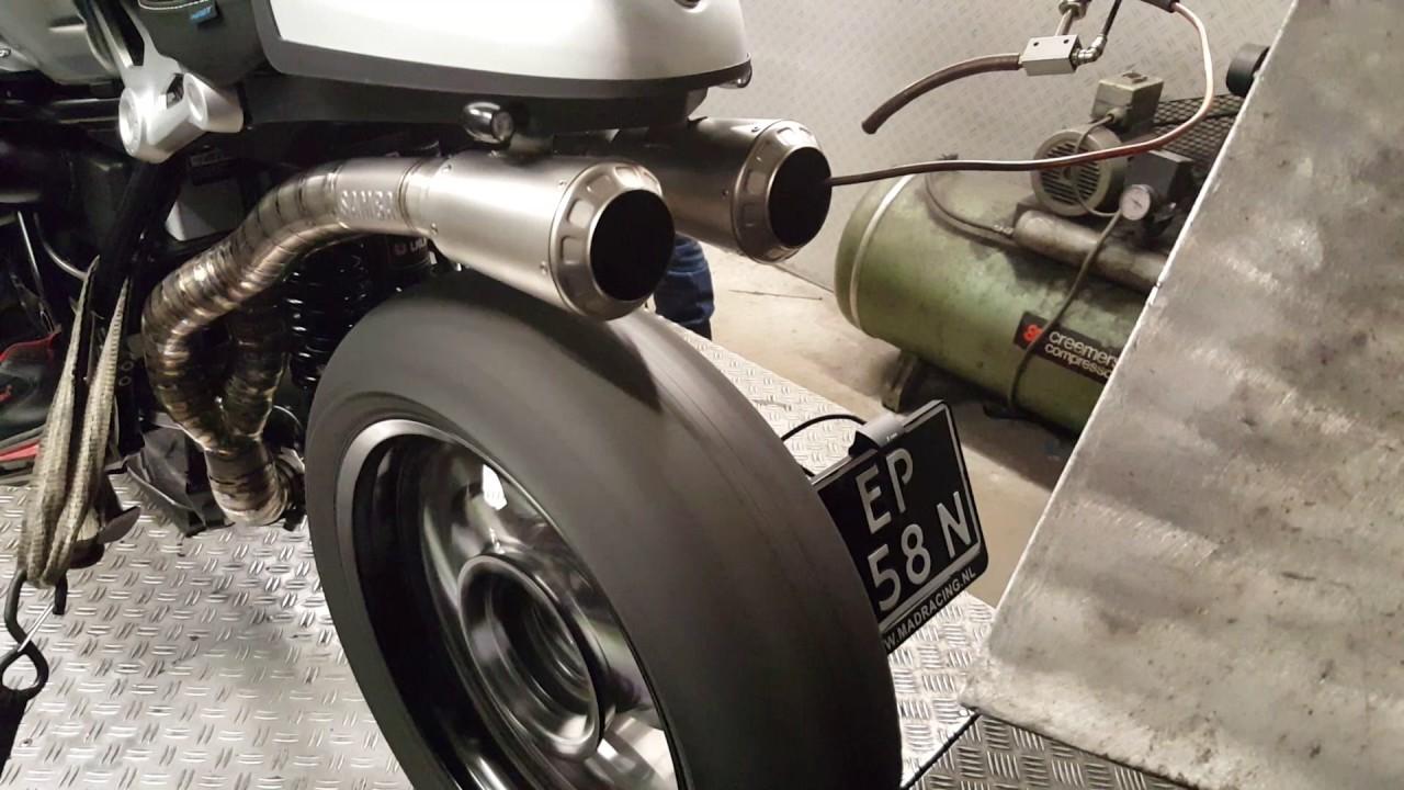 BMW Nine T >> Full Titanium Sambaracing exhaust + K&N BMW R NineT dyno run @ Madracing The Netherlands ...