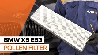 Remove Cabin filter BMW - video tutorial