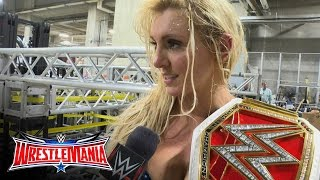 Download Video Was Charlotte disappointed with how she won?: WrestleMania 32 Exclusive, April 3, 2016 MP3 3GP MP4