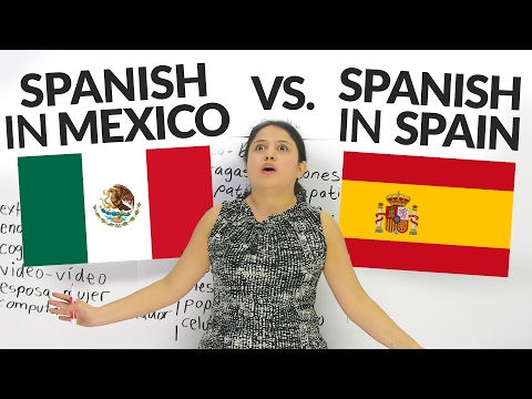 What's the difference between Spanish in Mexico, Latin Ameri