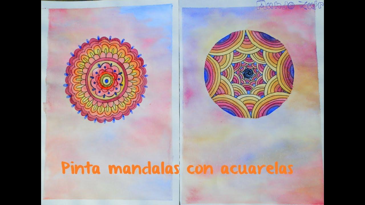 Pinta Un Mandala Con Acuarelas
