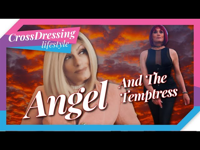 Crossdressing outfits of the day - Angel and the Temptress take a walk on the wild side