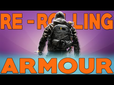 The Division, How to Re-Roll Armour Perks