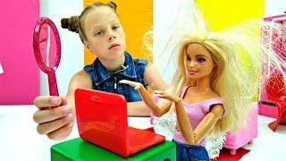 Салон красоты - Барби игроманка. Мультики для девочек