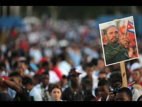 Ceremonia de homenaje a Fidel Castro en Santiago de Cuba