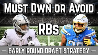 2020 Fantasy Football Advice: Early Round Draft Strategy - Must Own or Avoid Running Backs