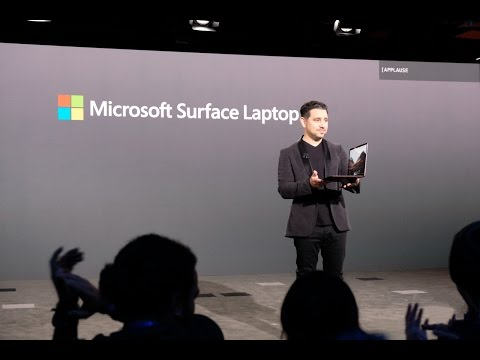 Microsoft Surface Laptop and windows 10 S launch event keynote