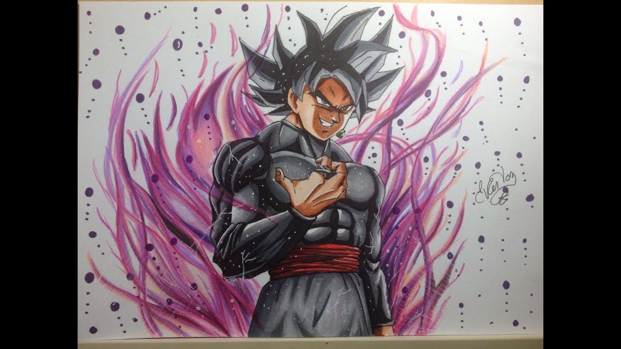 Speed drawing goku black ultra instinct migatte no gokui dragon ball super youtube - Goku ultra instinct sketch ...
