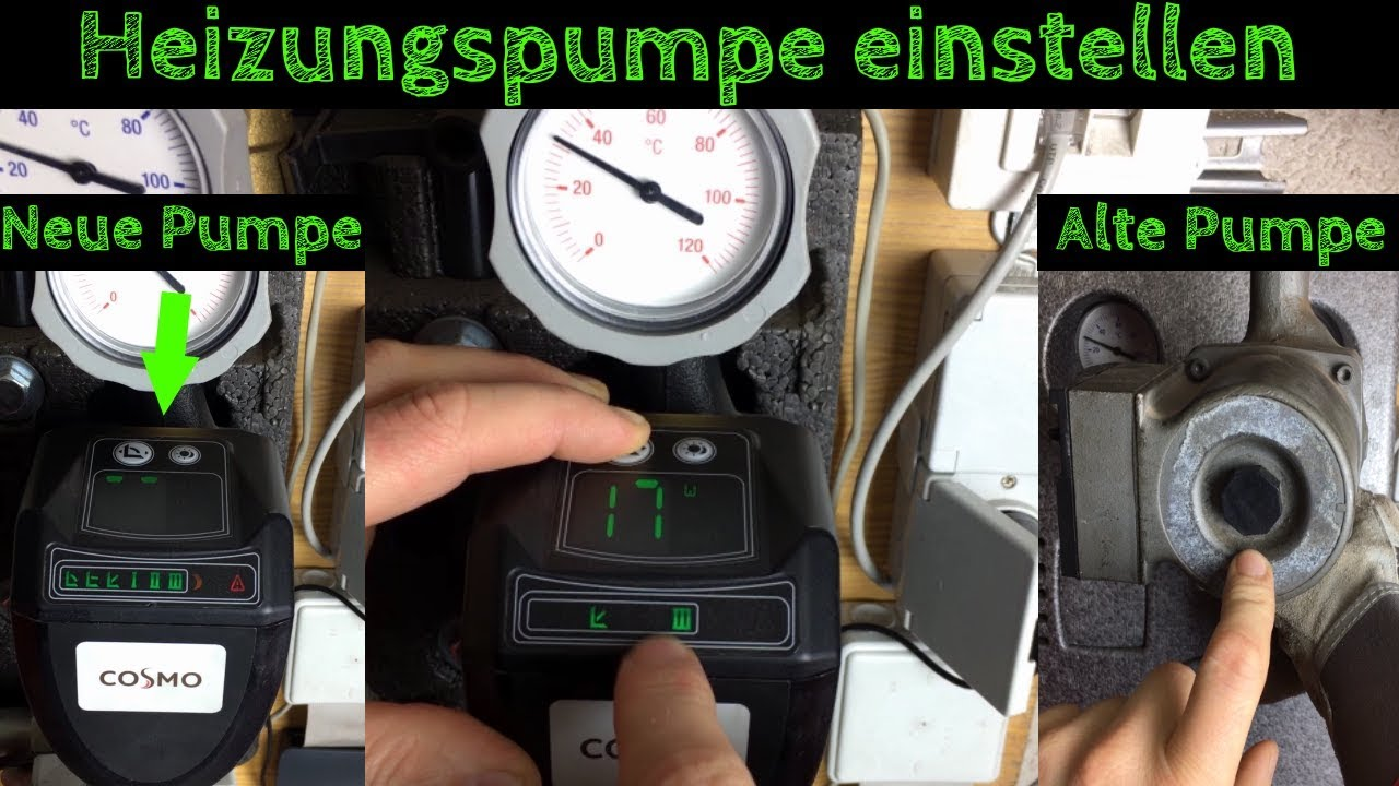 Bevorzugt Heizungspumpe einstellen und entlüften / Stromverbrauch KY15