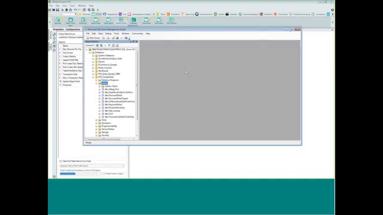 Writing data to a SQL Server with Alteryx Analytics