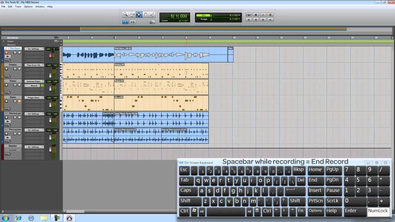 Pro Tools® SE - Recording an Audio Track - Win 7 & Mac OS X