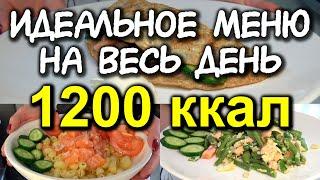 ПРИМЕР ПИТАНИЯ на 1200 ккал в день с расчетом калорий разбор КБЖУ МЕНЮ НА ДЕНЬ разбор еды