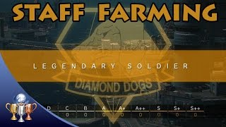 Metal Gear Solid V The Phantom Pain - Elite & Legendary Staff Farming (A++/S) Level Up Mother Base