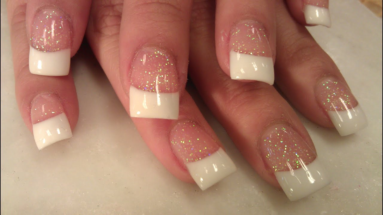Solar nails pink white part 2 youtube prinsesfo Gallery
