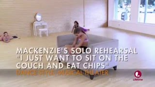 Dance Moms - Mackenzie's Solo Rehearsal - I Just Wanna Sit On The Couch And Eat Chips (S6E2)