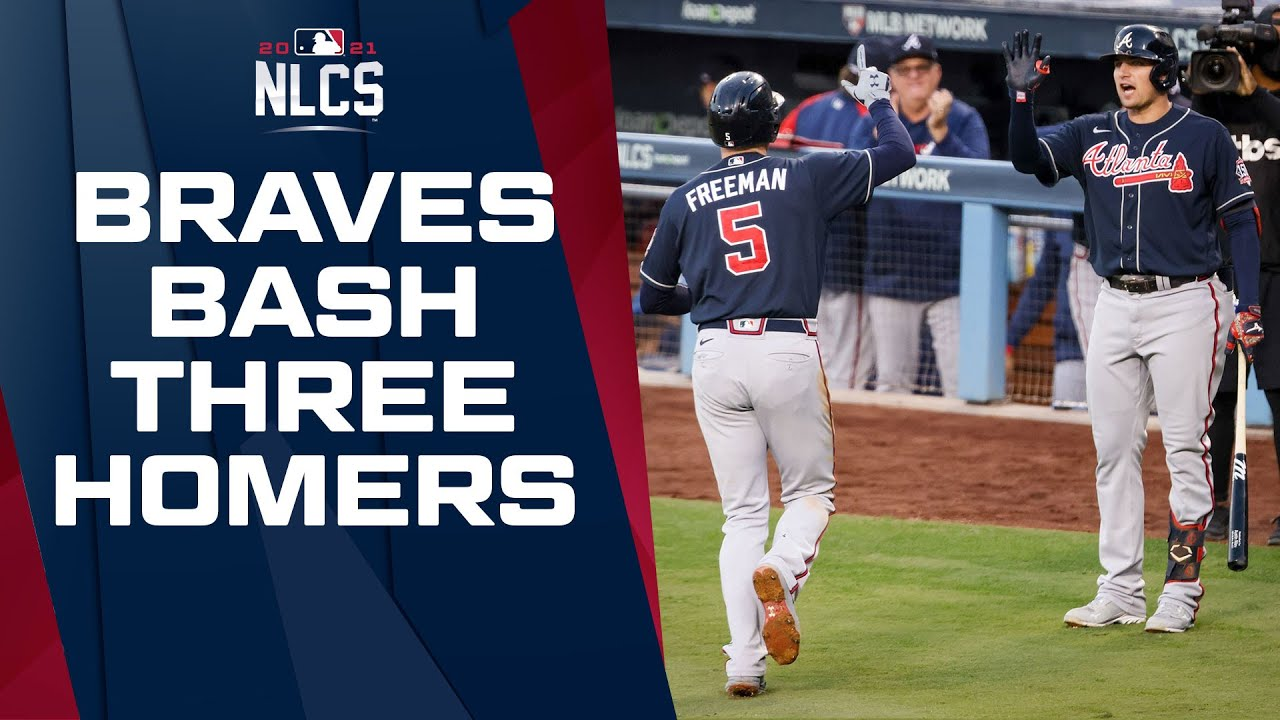 BRAVES BATS ARE CRUSHING! Atlanta jumps out to early lead with THREE solo home runs!