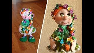 """Каркасная куколка """"Веснушка"""" - подробный МК по просьбам подписчиков!"""