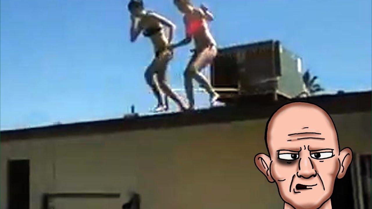 Teen Girl Breaks Both Feet Jumping Off House Youtube