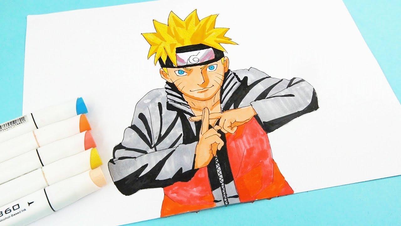 How to draw Naruto characters step by step - Cara menggambar ...