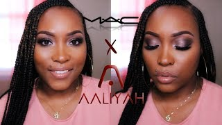 MAC  X AALIYAH COLLECTION TRY ON  |  THOUGHTS & REVIEW  |   BEAU'D BY D.BEASLEY