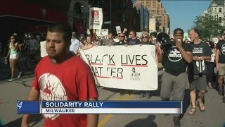 Black Lives Matter rally in Milwaukee