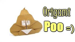 Origami Poo Crazy smile | Como fazer origami Poop louco sorriso - Origami easy tutorial