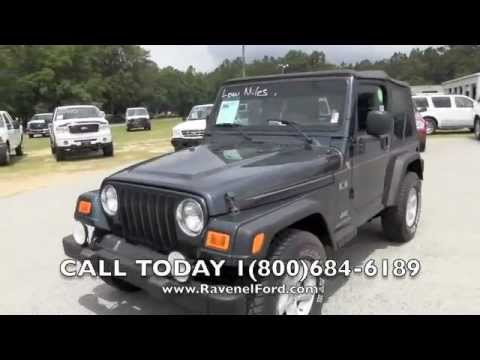 2005 jeep wrangler tj x 4x4 4 0l 6 speed charleston car review videos for sale ravenel ford. Black Bedroom Furniture Sets. Home Design Ideas