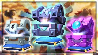 OPENING LIGHTNING CHEST ,FORTUNE CHEST AND LEGENDARY KINGS CHEST IN CLASH ROYALE!!