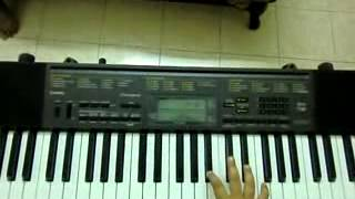 new telugu movie legend title song on keyboard how to play tutorial by hrishik