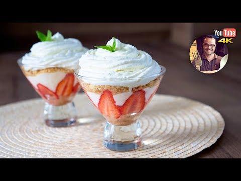 dessert- -verrine-fraise-mascarpone- -chantilly-au-basilic