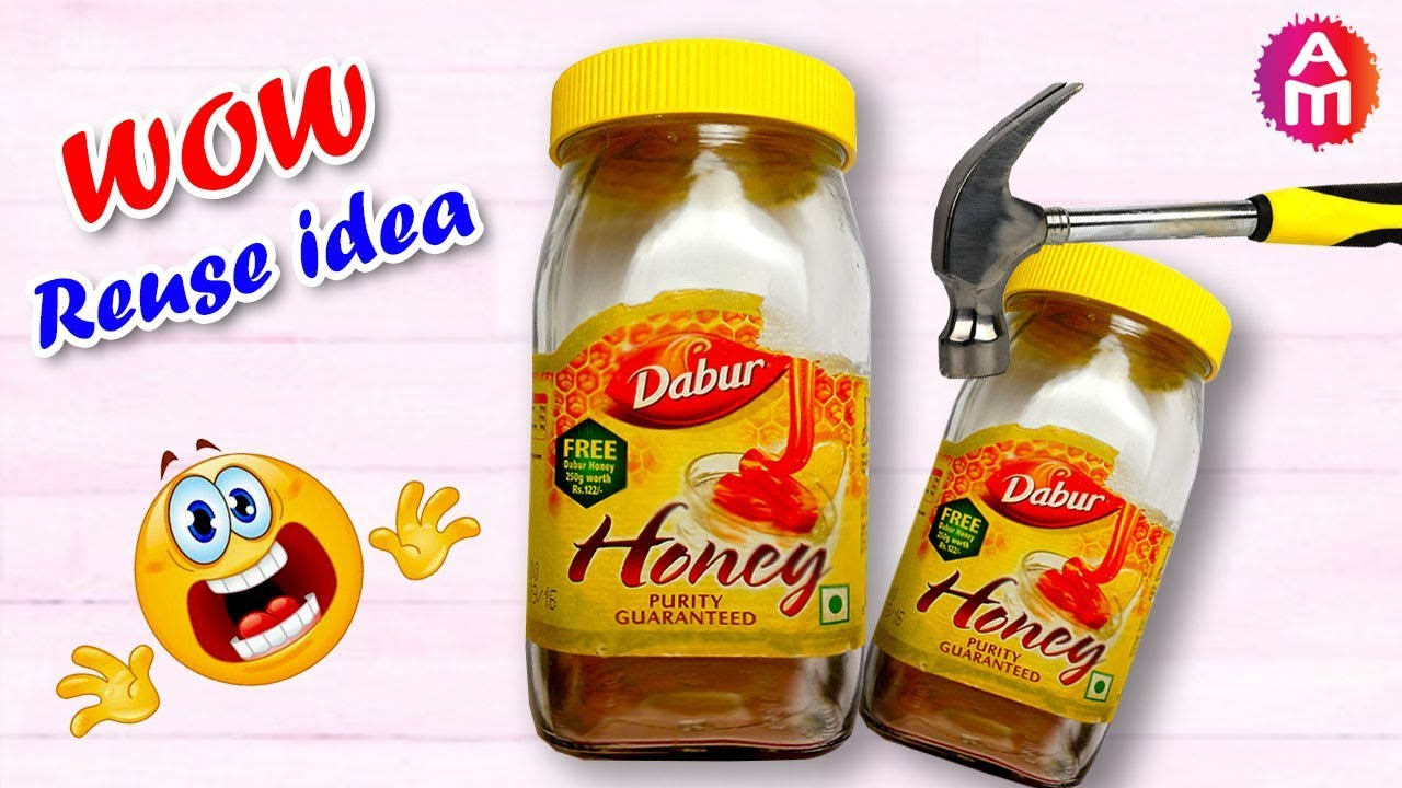 Home Decor Idea From Dabur Honey Jar Diy Snow Globe Best Out Of Waste Idea Artsy Madhu 23 Youtube