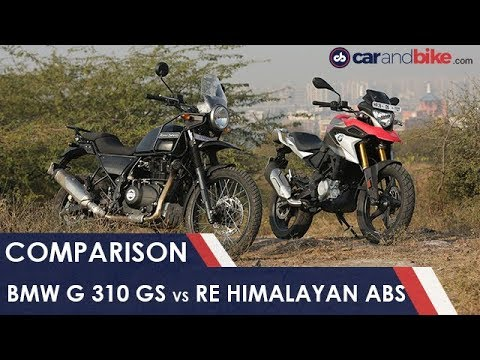 BMW G 310 GS vs ROYAL ENFIELD HIMALAYAN ABS | NDTV carandbike