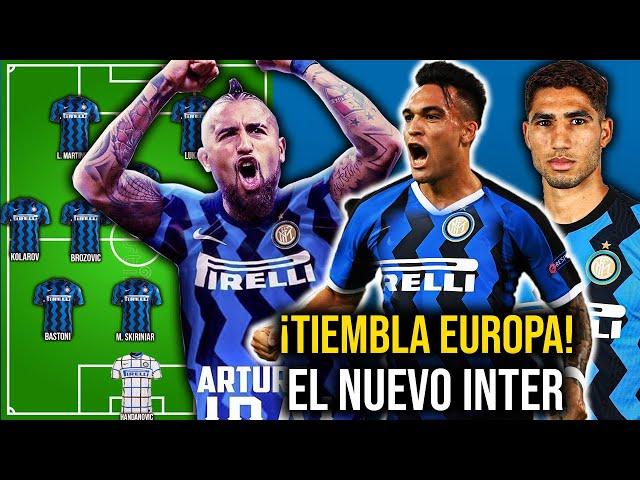 ¡LOCURA! Así sera la PODEROSA Alineación del INTER para esta temporada 2020/21