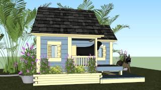 Dh300 - Large Dog House - How To Build An Insulated Dog House - Dog House Plans