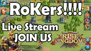 RoKers! We are Live! Barb Smash + Edward Wheel bring me Some Good Luck! | RISE OF KINGDOMS