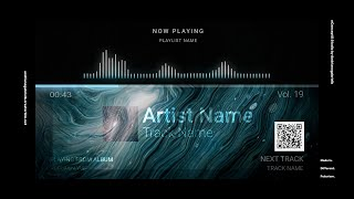 Audio Spectrum / Music Visualizer Concept S19 (White Hole)-FREE After Effects Template Download