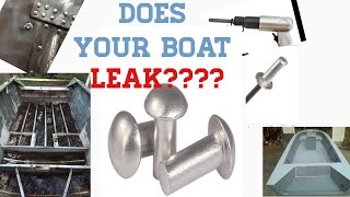 HOW TO REPLACE LEĄKY BOAT RIVETS SOLID AND POP